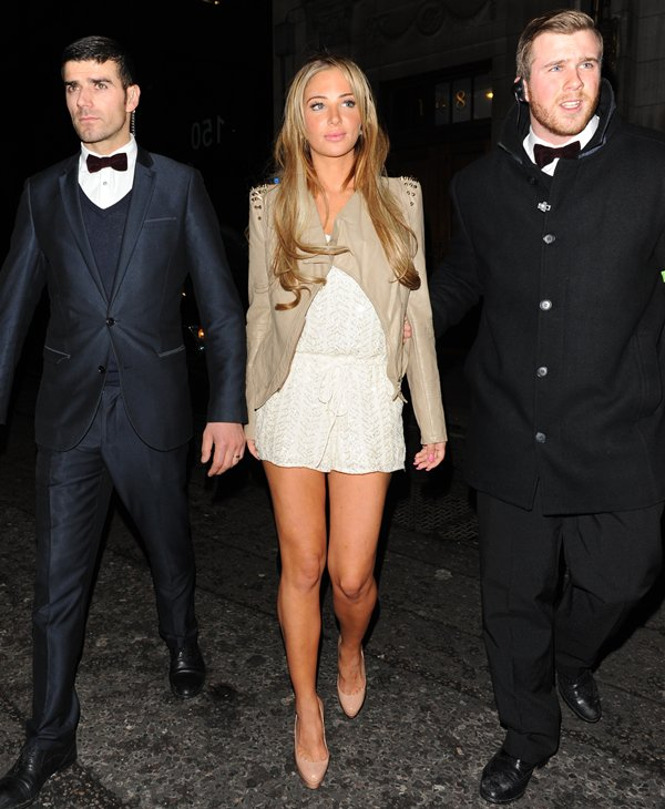 Tulisa Contostavlos leaving Steam and Rye