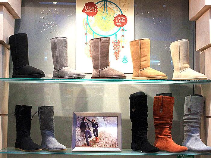 Ugg boots display