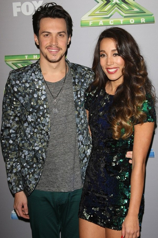 Alex Kinsey and Sierra Deaton at the X-Factor Season 3 coronation of the winner at CBS Studios