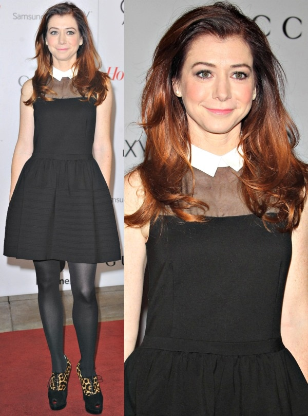 Alyson Hannigan at The Hollywood Reporter's 22nd Annual Women in Entertainment Breakfast at The Beverly Hills Hotel in Los Angeles, California, on December 11, 2013
