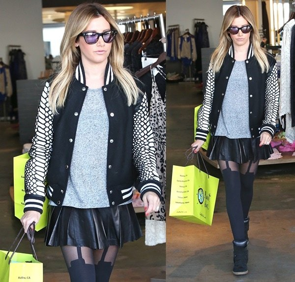 ashley tisdale christmas shopping