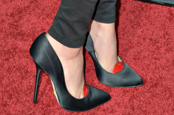 "Bailee Madison in ""Scarlett"" pumps from a new Italian designer, Giannico"