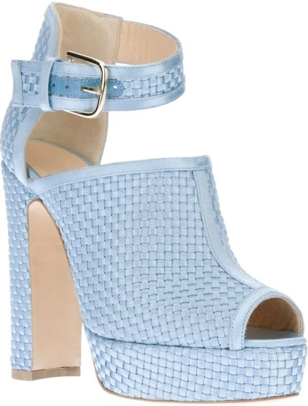 "Bionda Castana ""Christa"" Sandals in Cornflower Blue"