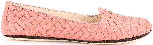 Bottega Veneta Intrecciato Leather Slippers