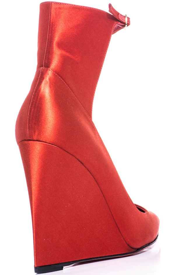 "Burberry Prorsum ""Crayford"" Wedges in Red"
