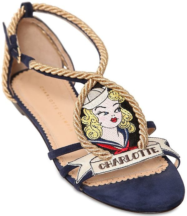 "Charlotte Olympia ""Ahoy Sailor!"" Sandals"