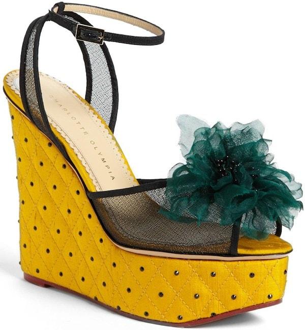 "Charlotte Olympia ""Miranda in Bloom"" Platform Sandals"