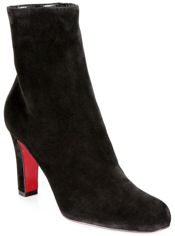 christian louboutin black miss tack suede boots