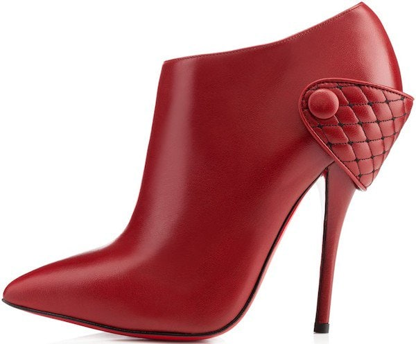 Christian Louboutin Huguette Leather Ankle Boots in Rogue Imperial
