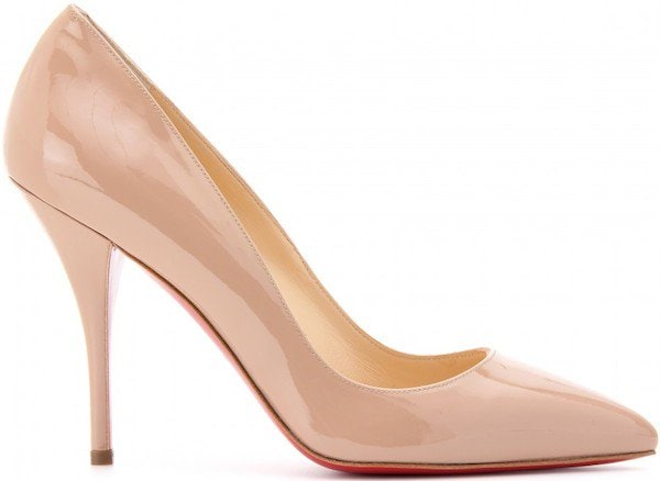 "Christian Louboutin ""Batignolles"" Pumps in Nude Patent Leather"
