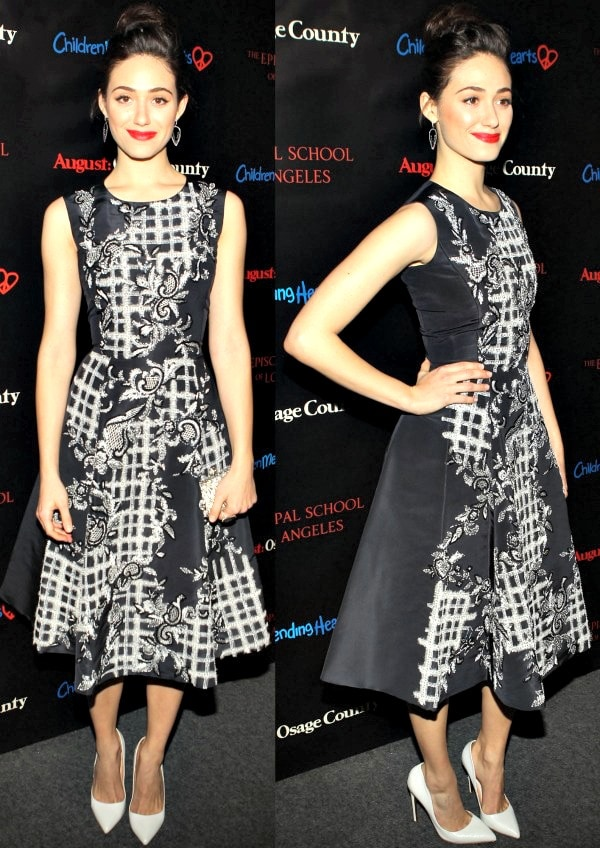 Emmy Rossum at The Weinstein Company's August: Osage County benefit screening