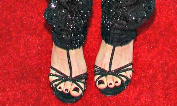 Emmy Rossum's feet in Jimmy Choo sandals
