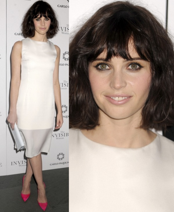 Felicity Jones at the premiere of The Invisible Woman at the Museum of Modern Art in New York City on December 9, 2013