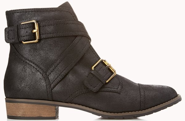 Forever 21 Underground Buckled Booties