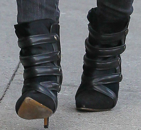 Hilary Duff rocking Tacy boots in black from Isabel Marant