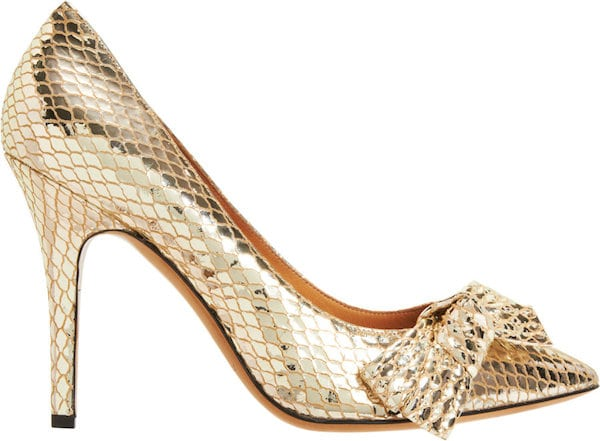 "Isabel Marant ""Poppy"" Pumps in Metallic Leather"