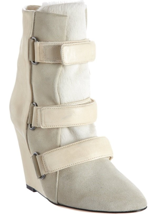 isabel marant scarlet boots white