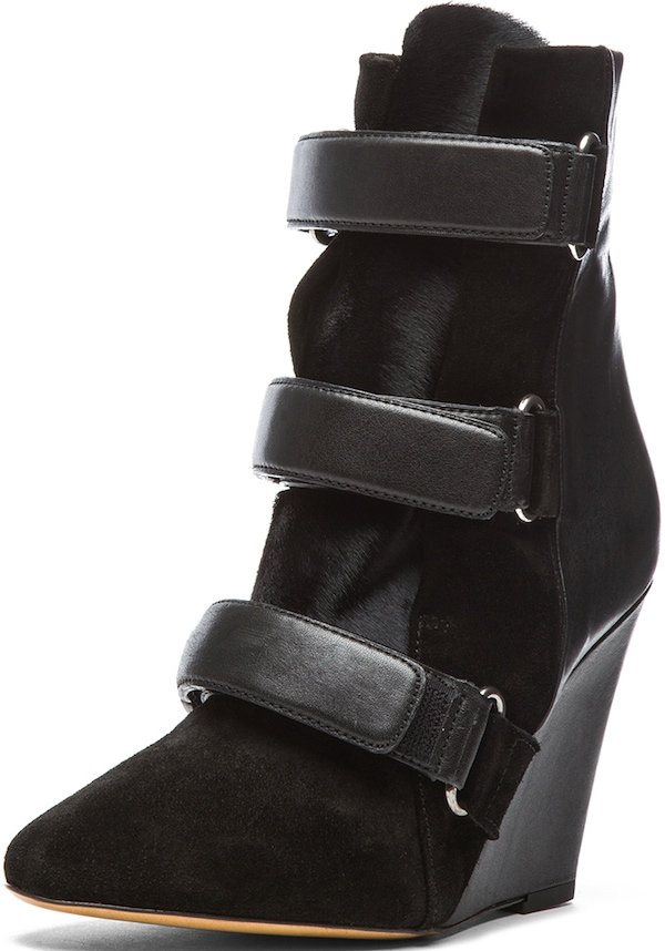 "Isabel Marant ""Scarlet"" Wedge Boots in Black"