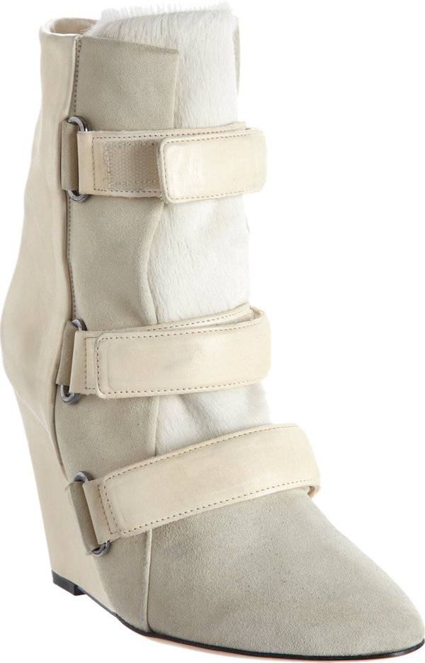 "Isabel Marant ""Scarlet"" Wedge Boots in Ecru"