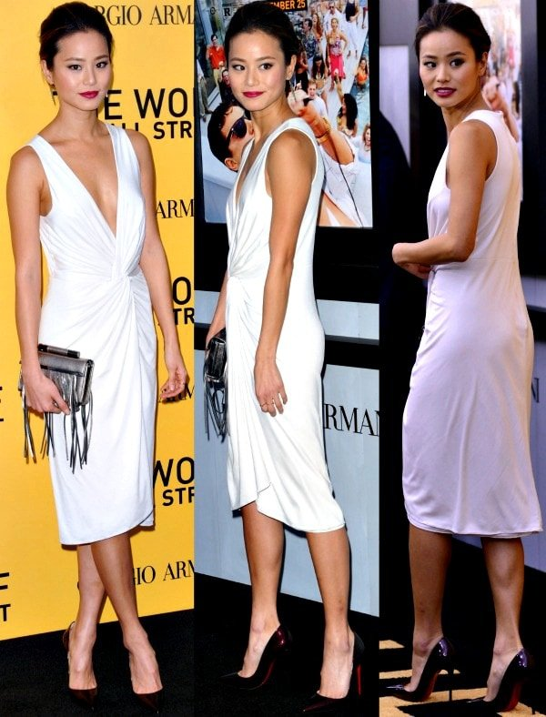Jamie Chung at the premiere of The Wolf of Wall Street held at the Ziegfeld Theatre in New York City on December 17, 2013