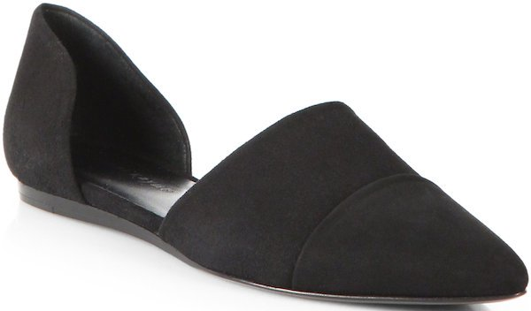 Jenni Kayne D'Orsay Flats in Black Suede