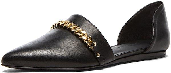 Jenni Kayne D'Orsay Chain Flats in Black