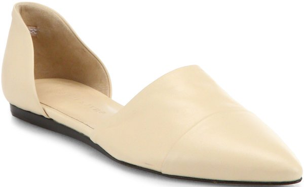 Jenni Kayne D'Orsay Flats in Beige Leather