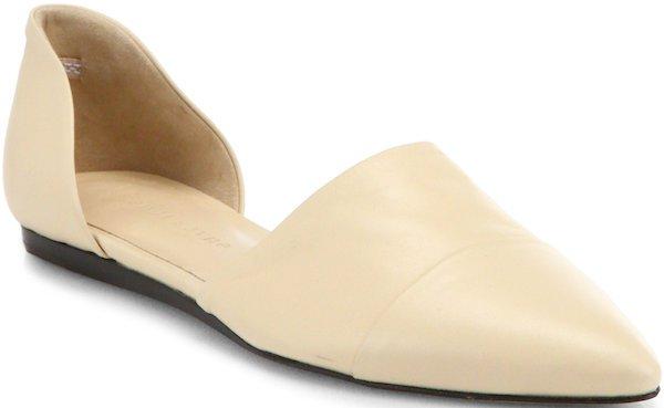 Jenni Kayne D'Orsay Flats in Beige Leather