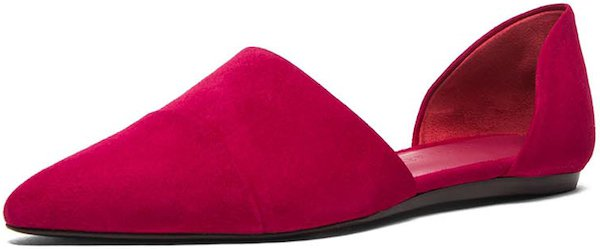 Jenni Kayne D'Orsay Flats in Raspberry Suede