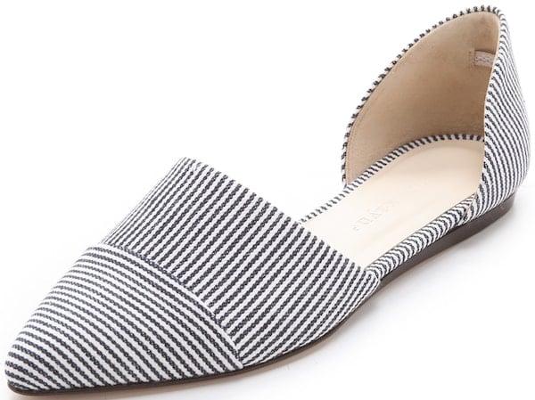 Jenni Kayne D'Orsay Flats in Striped Denim