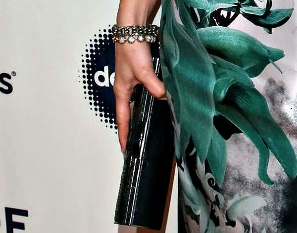 Jennifer Lopez wearing a diamond ball bracelet from Le Vian for added sparkle