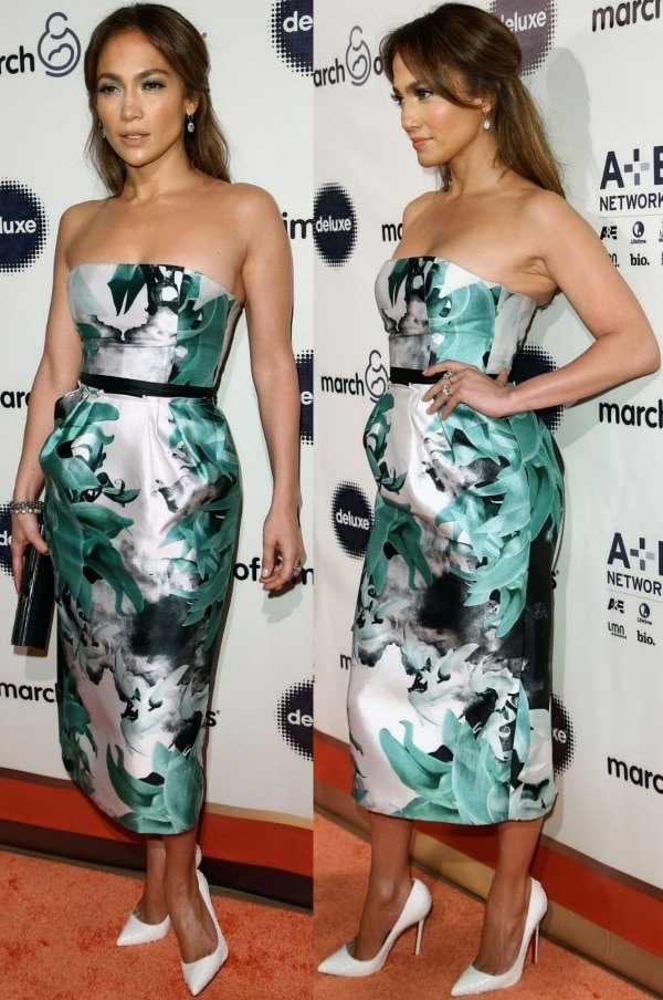 Jennifer Lopez attended the 8th Annual March of Dimes Celebration of Babies Luncheon in a classy yet sexy ensemble that showed off her fabulous red carpet style