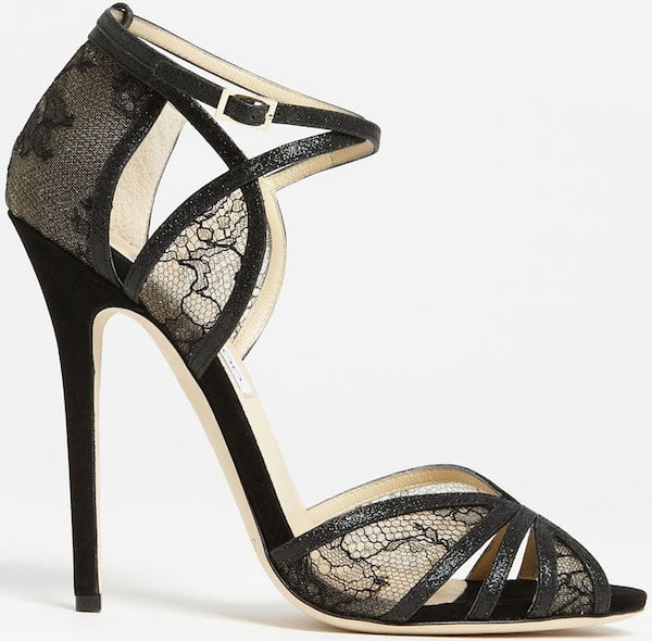 "Jimmy Choo ""Fitch"" Sandals in Black"