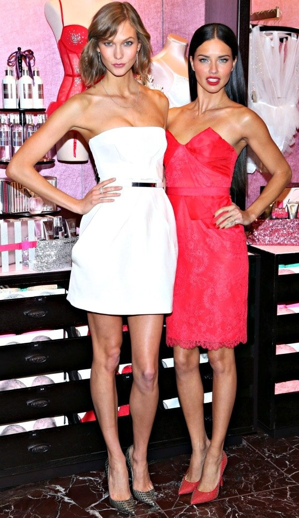 Victoria's Secret Angels Karlie Kloss and Adriana Lima were in a gift-giving mood at the 2013 Holiday Cheer Gift event held in New York City
