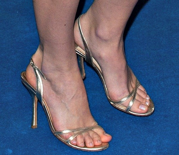 Keira Knightley shows off her feet in Jimmy Choo sandals