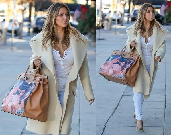 Kim Kardashianwas lovely in white separates