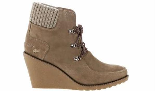 "Lacoste Women's ""Adalyn 2"" Ankle Boots in Brown Suede"