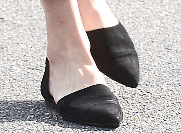 Mandy Moore heading to the Andy LeCompte Salon in West Hollywood, Los Angeles, California, on December 2, 2013. These flats from Jenni Kayne ...