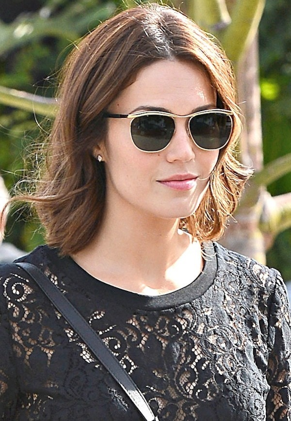 Mandy Moore Goes to Andy Lecompte Salon