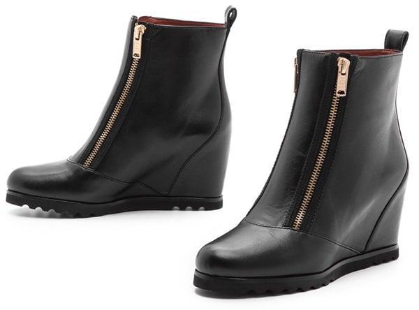 marc by marc jacobs zip hidden wedge boots
