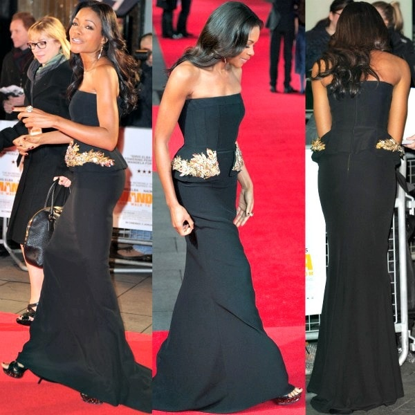 Naomie Harris at the Royal Film Performance of Mandela: Long Walk to Freedom held at the Odeon Leicester Square in London, England, on December 5, 2013