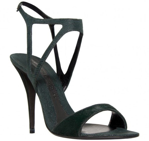 Narciso Rodriguez Teal Evening Sandals