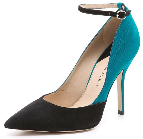 paul andrew bouchra ankle strap pumps
