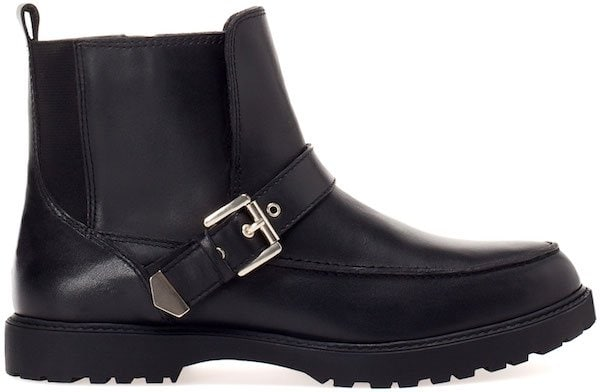 Pull&Bear Leather Ankle Boots with Buckle Detail