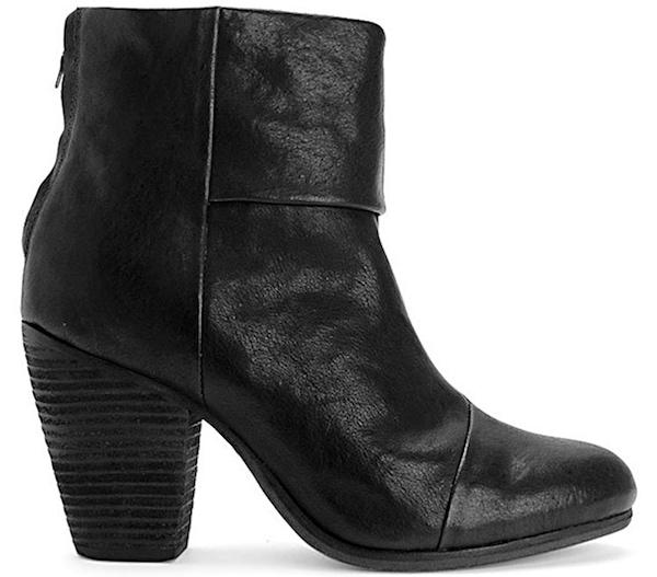 RAG & BONE Newbury Boots in Black Leather