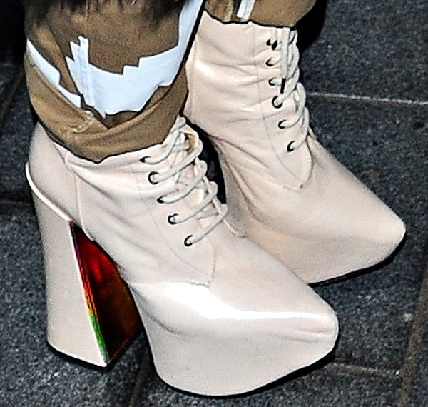 Rita Ora's Vivienne Westwood Gold Label lace-up boots