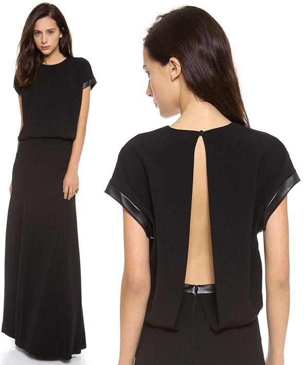 robert rodriguez techno crepe dress 2-horz