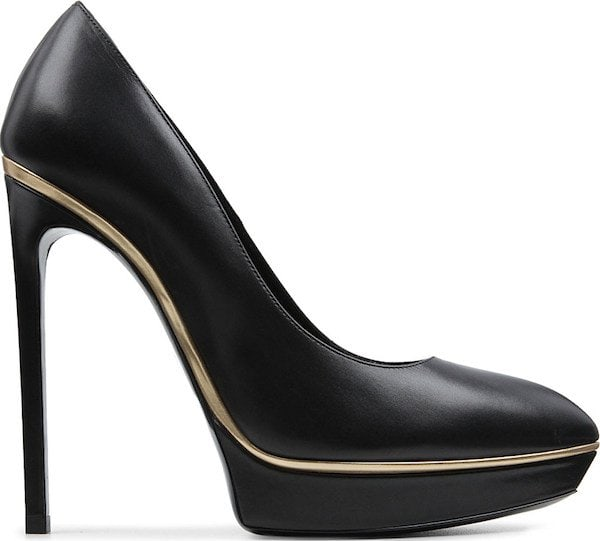 "Saint Laurent ""Janis"" Pumps in Black Leather"