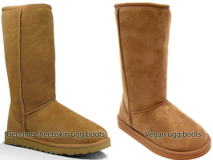sheepskin vs vegan ugg boots