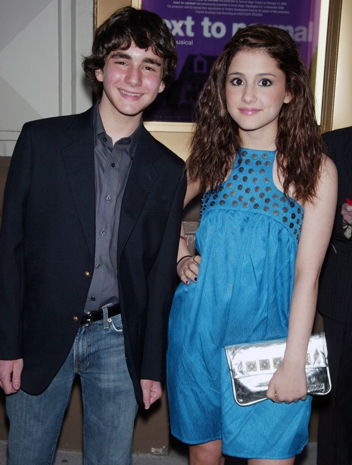 "Ariana Grande with her best friend Aaron Simon Gross at the opening night of ""Next to Normal"""
